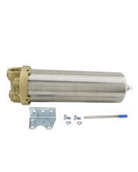 HOUSING, FILTER, 300 PSI, 10IN LONG, BRASS HEAD/SS SUMP, 3/4IN FNPT, EP